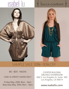 Isabel Lu Sample Sale!